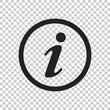 Information Icon vector illustration in flat style. Speech symbol for web site design, logo, app, ui.