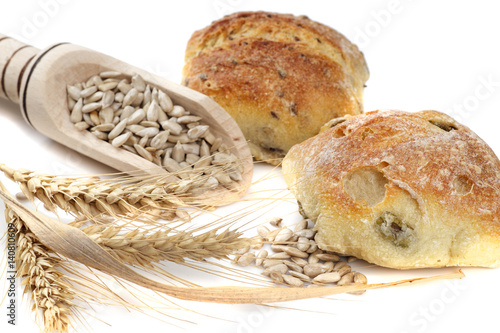 bread and sunflower kernels