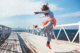 Fototapety Workout outdoors, fashion sportswear