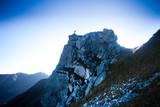 Rock climbed by a tiny human