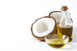 Coconut oil isolated on white background