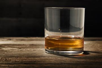 Single Glass of Straight Bourbon