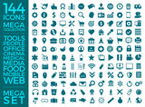 Set Of Icons, Quality Universal Pack, Big Icon Collection Vector Design Eps 10 - 140852821