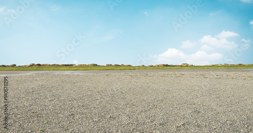 Foto Murales empty ground and blue sky