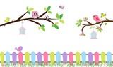 Ramas de árbol con pajaritos 1-01 - 140885098