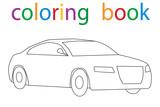 Vector, book coloring car