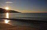 Sunrise in Marina di Campo beach, Elba island