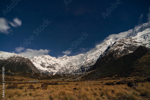Mountain Range  | Aoraki/Mt Cook National Park, Canterbury, New Zealand Poster
