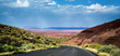 Painted Desert Arizona with vivid colors at dusk