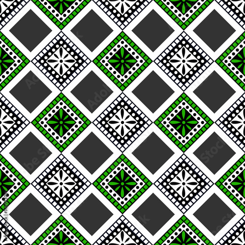 Seamless vector decorative hand drawn pattern. ethnic endless background with ornamental decorative elements with traditional etnic motives, tribal geometric figures. Print for wrapping, background - 140923057