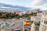 View of Square of Cibeles from Town Hall of Madrid