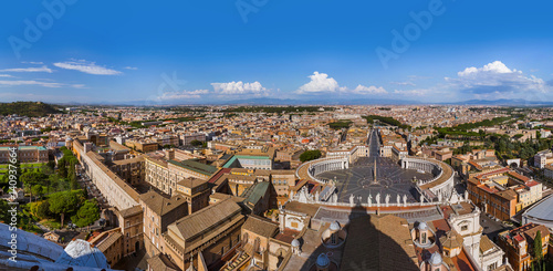 Poster View from Sant Peters Basilica in Vatican - Rome Italy