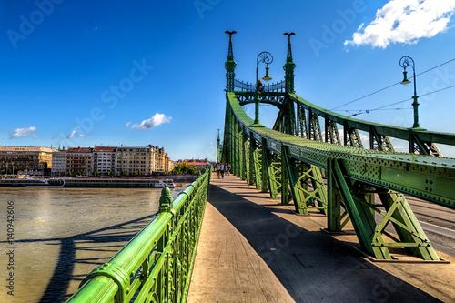Poster Freiheitsbrücke in Budapest, Ungarn