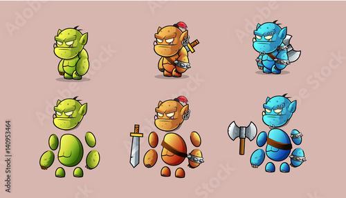Mini Character  warrior stone monster kit - 140953464