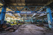 Постер, плакат: Hall in factory building in abandoned Pripyat city in Chernobyl Exclusion Zone Ukraine