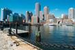 View of Boston from Fan Pier Park, Boston, Massachusetts, USA. / Vista de Boston desde el Fan Pier Park, Boston, Massachusetts, EUA.