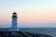 Peggys Cove Lighthouse After Sunset, Nova Scotia, Canada