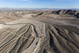 Aerial view of desert suburban construction sprawl in the Summerlin community of Las Vegas, Nevada.