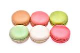 Macarons isolated on white background