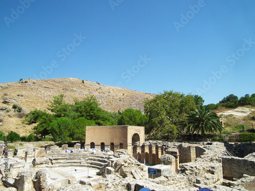 The island of Crete, Greece, Gortyna, the Ancient Roman Odeon, the excavations, the ruins