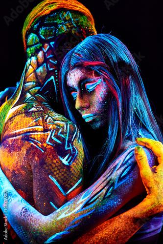 Poster couple UV portrait