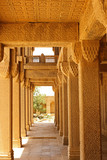 Beautifuly carved pillars with islamic art