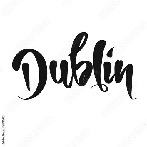 Dublin calligraphic Lettering Plakat