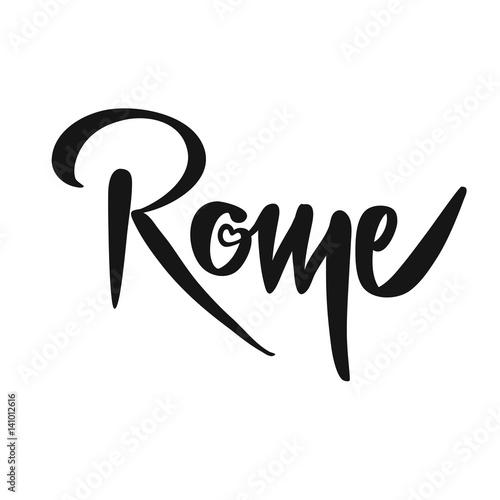Rome Calligraphic Lettering Plakat