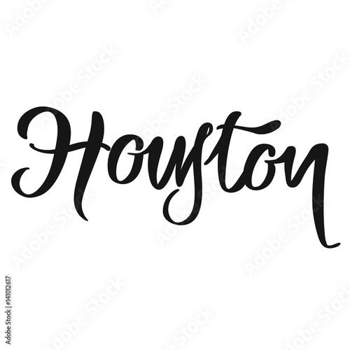 Houston calligraphic lettering Lerretsbilde
