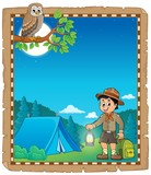 Parchment with scout boy theme 2
