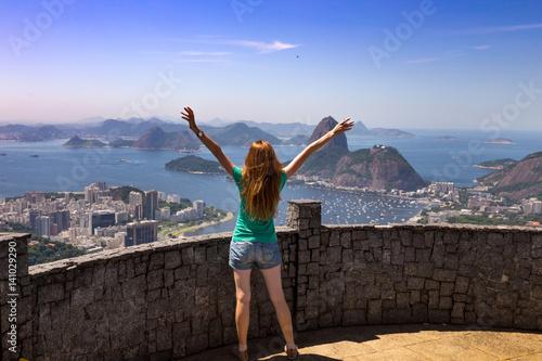 Deurstickers Rio de Janeiro girl at the Rio de Janeiro