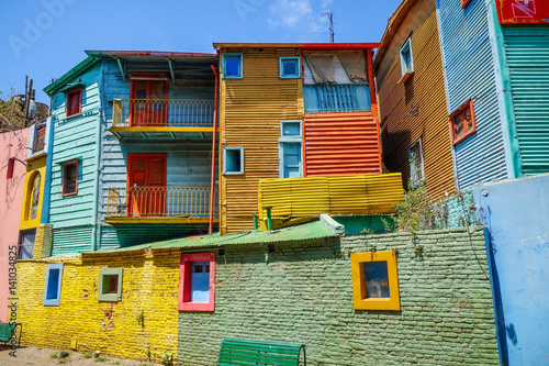 Papiers peints Buenos Aires Colorful houses in Caminito, Buenos Aires