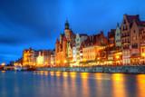 Gdańsk widok miejski o zmierzchu - 141052419