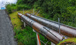 Alaska pipeline portion above ground near Valdez