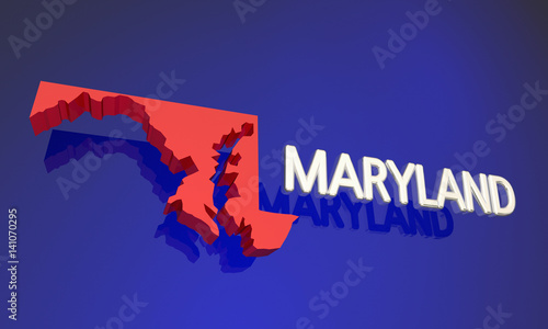 Maryland MD Red State Map Name 3d Illustration | Buy Photos ... on graffiti of maryland, layout of maryland, landscape of maryland, graph of maryland, icons of maryland, clipart of maryland, food of maryland, drawing of maryland, cartoon of maryland,