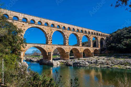 Poster Pont du Gard, France.