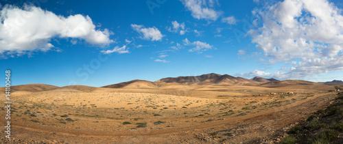 Deurstickers Canarische Eilanden Panorama der wunderschönen Vulkanlandschaft von Fuerteventura