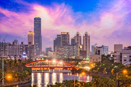 Poster Kaohsiung, Taiwan Skyline