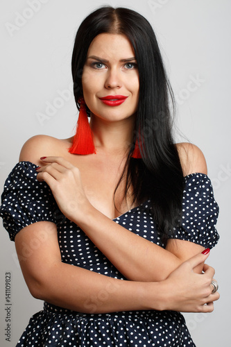 Young woman with red lips © snedorez