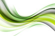 Green luxury waves background. Abstract wallpaper concept.