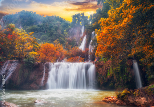 Fototapeta Thi Lo Su Waterfall Umphang, Tak Province.