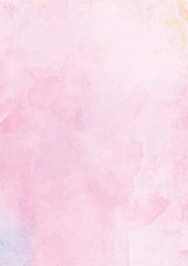 Pastel pink watercolor abstract textured paper background