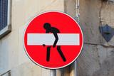 Road sign, street art - 141130606