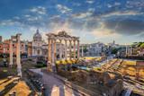 Roman Forum when sunrise, Rome, Italy