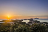 sunset over the islands, areal view of the losinj island at sunset, croatia, europe - 141157464