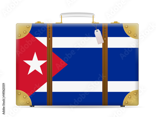 Cuba flag travel suitcase