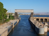 Kreuzfahrt mit dem Schiff auf dem Nil, Ägypten.