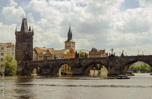Poster Charles bridge in Prague, Czech Republic