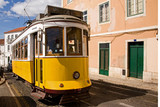 Historyczne wózka w centrum Lizbony, Portugalia