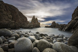 A Long Exposure sunset in the stony beach, Capo Pecora, Buggerru, Sardinia